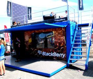 Blackberry Event container